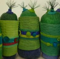 ©Susan Sasnett 3d textile caterpillar from Level 3 Advanced Studies in Design and Experimental Stitch