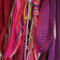 ©Dianne Corso - closeup of stitched and woven hanging