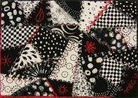 Crazy Roads - a Black, White and Red piece created for auction