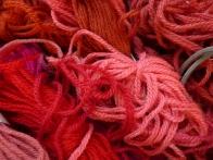 Wool Thread at the studio ©Gail Harker