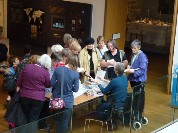 demonstrations of sketchbooks and stitch