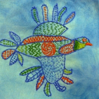 © Marilyn Olsen kantha style hand embroidery