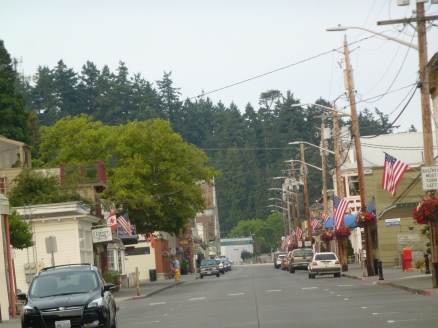 The main street is still quiet after July 4th celebrations yesterday