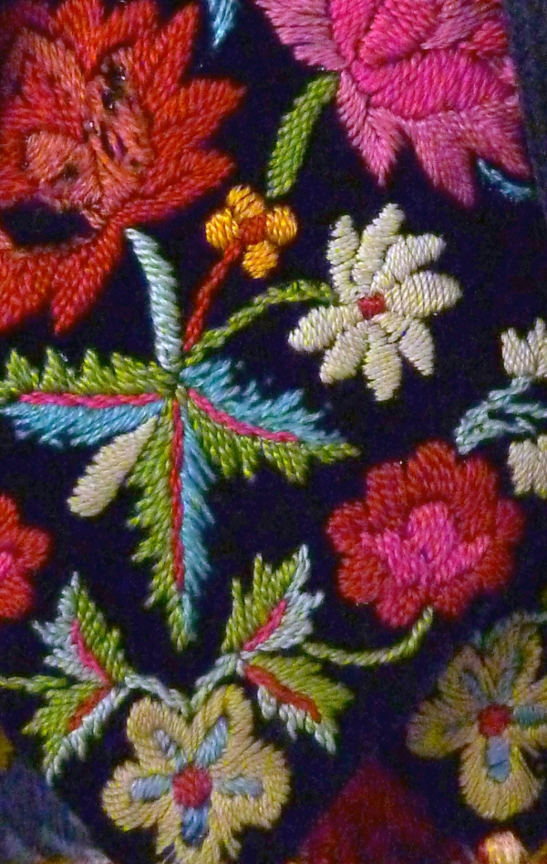 Vest Detail, Traditional Woman's Costume, Romania Mid 20th C