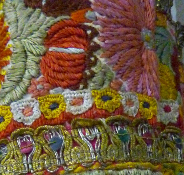 Sleeve Detail, Traditional Woman's Costume, Romania Mid 20th C