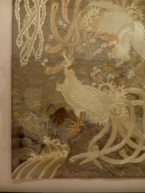 Japanese Silk Thread Painting c 19th C detail, Museu Calouste Gulbenkian, Lisbon