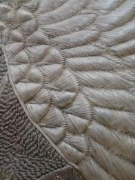 Japanese Silk Thread Painting c 19th C detail, Museu Calouste Gulbenkian, Lisbon