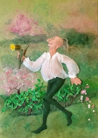 Harold of Spring © Sandy Little - Raised applique and hand embroidery