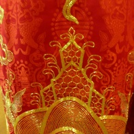Mother Goddess Altar, detail of rear view of the First Mandarin's robe, Women's Museum, Hanoi photo© Penny Peters