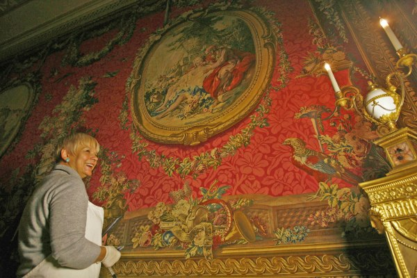 250-year-old tapestries are checked for pests at Osterley Park