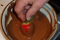 milk chocolate also tastes good on strawberries. Don dips chocolates.