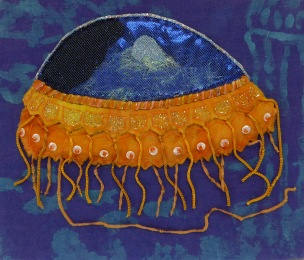 © Margaret Joseph's stitched jelly fish
