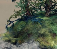 ©Gillian Smith - Island detail from Level 3 Advanced Studies in Design and Experimental Stitch