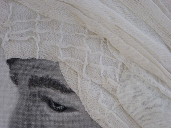 ©Wendy MacKinnon Gellabeya - manipulated fabric and hand stitch - detail