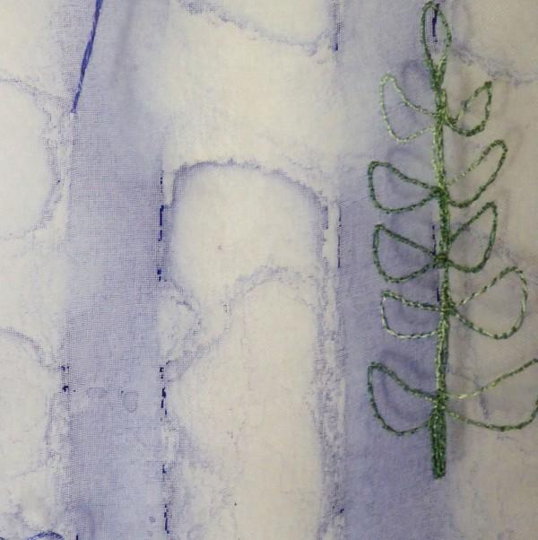 ©Pauline Oakey - machine embroidery scarf detail