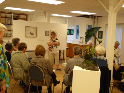 ©Wendy MacKinnon - talking about her work to visitors at the studio