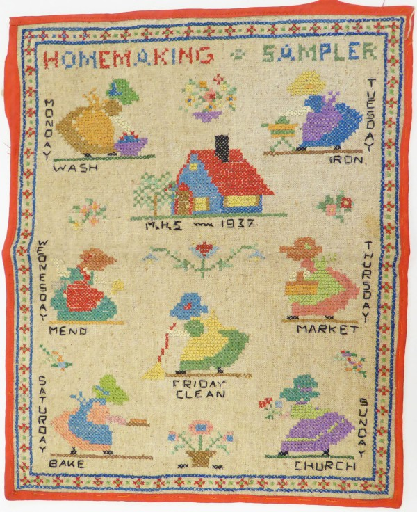 close up of the sampler