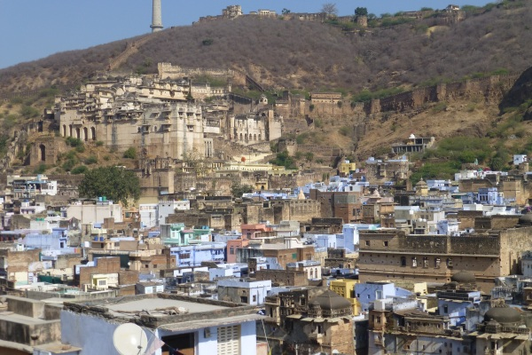 Taragarh Fort above the town of Bundi, Rajasthan, India