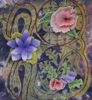 © Isabel Parker Passion Flowers -Machine Embroidery