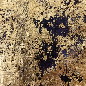 Gold leaf on hand-dyed fabric by Christina Fairley Erickson