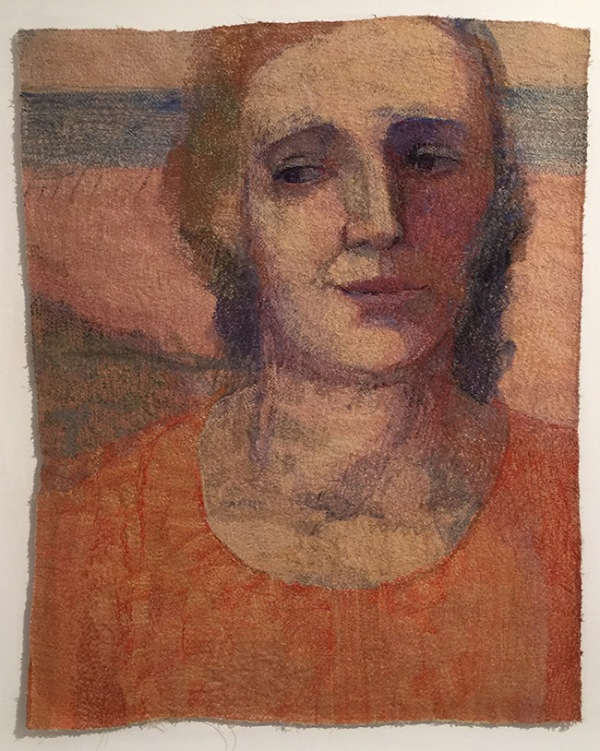 """""""Beach Woman"""" by Audrey Walker 1996, approximately 36"""" h x 28""""w."""