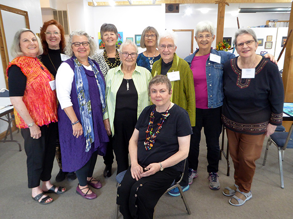 Gail Harker with some of the volunteers and guest artists-in-residence from the 2019 Grand Opening event.